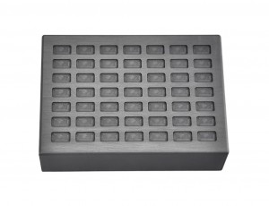 5 Grain Multi Cavity Silver Rectangular Graphite Ingot Mold