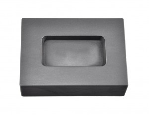 3 Troy Ounce Silver Rectangular Graphite Ingot Mold