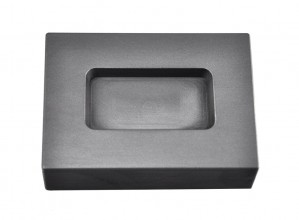 5 Troy Ounce Silver Rectangular Graphite Ingot Mold
