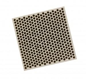 Honeycomb Ceramic Block Square w/ 385 Holes (2 mm Diameter)