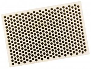 Honeycomb Ceramic Block Square w/ 374 Holes (2 mm Diameter)