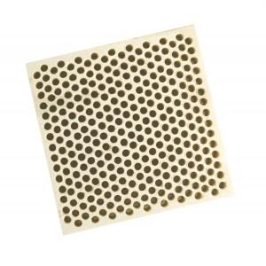 Honeycomb Ceramic Block Square w/ 294 Holes (2 mm Diameter)