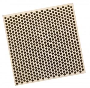 Honeycomb Ceramic Block Square w/ 585 Holes (2 mm Diameter)