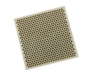 Honeycomb Ceramic Block Square w/ 537 Holes (2 mm Diameter)