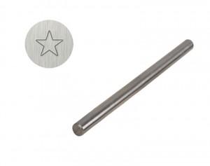 """3/16"""" Steel Star Outline Stamp"""