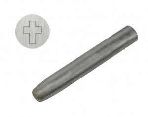 "3/8"" 9.5 mm Steel Cross Stamp"