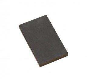 """2"""" x 1-1/2"""" x 3/16"""" Black Glass Test Stone (Economy)"""