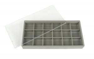"""7-1/2"""" X 3-3/4"""" x 1"""" Plastic Box Organizer Case w/ 18 Compartments"""