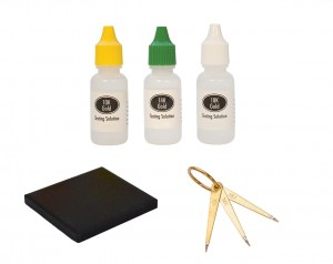 10K, 14K, 18K Gold Testing Set Needles Stone and Solutions