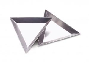 """12 Pack of 3"""" Triangular Trays"""