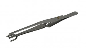 "6-1/2"" Stainless Steel Half-Shank Tweezers"