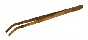 "9"" Copper Pickling Curved Tweezer/Tongs"