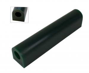 Wax Ring Tube - Dark Green Large Flat Side (FS-5)