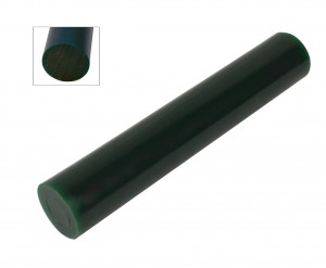 Wax Ring Tube - Green Large Round Solid Bar (RS-3)