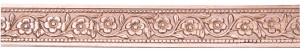 3' Copper Pattern Wire - Flower Chain 24 Gauge