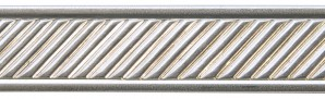 3' Nickel Silver Pattern Wire - Slant w/ Border 16 Gauge