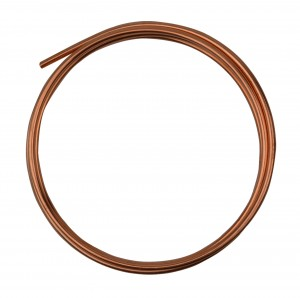 5' Round Dead Soft Copper Wire - 8 Gauge