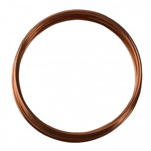 10' Round Dead Soft Copper Wire - 12 Gauge