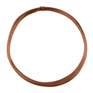 25' Round Dead Soft Copper Wire - 21 Gauge