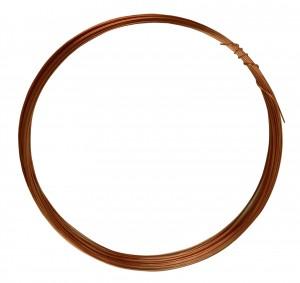 25' Round Dead Soft Copper Wire - 24 Gauge
