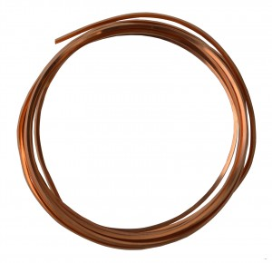10' Square Dead Soft Copper Wire - 12 Gauge