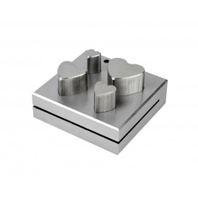 4 Piece Heart Shaped Disc Cutter Set 11 to 25 mm