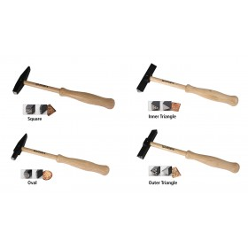 "Set of 4 - 8-1/2"" Wubbers Artisan's Mark Texture Hammers"