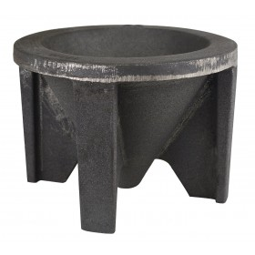 """Cast Iron Conical Slag Mold 8"""" Diameter x 6"""" Depth for Pouring Gold"""