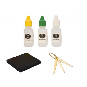 10K, 14K, 18K Gold Testing Set with Needles Stone & Solutions