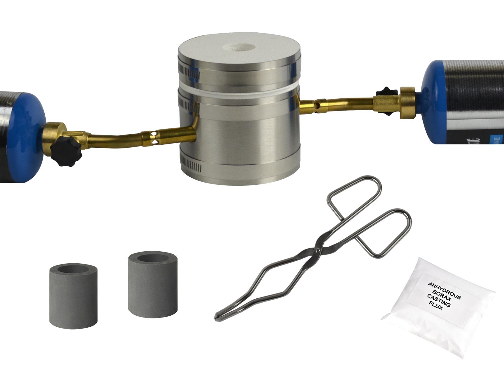 basic mini kwik kiln propane gold silver copper melting furnace set ii kit 0037 pmc supplies. Black Bedroom Furniture Sets. Home Design Ideas