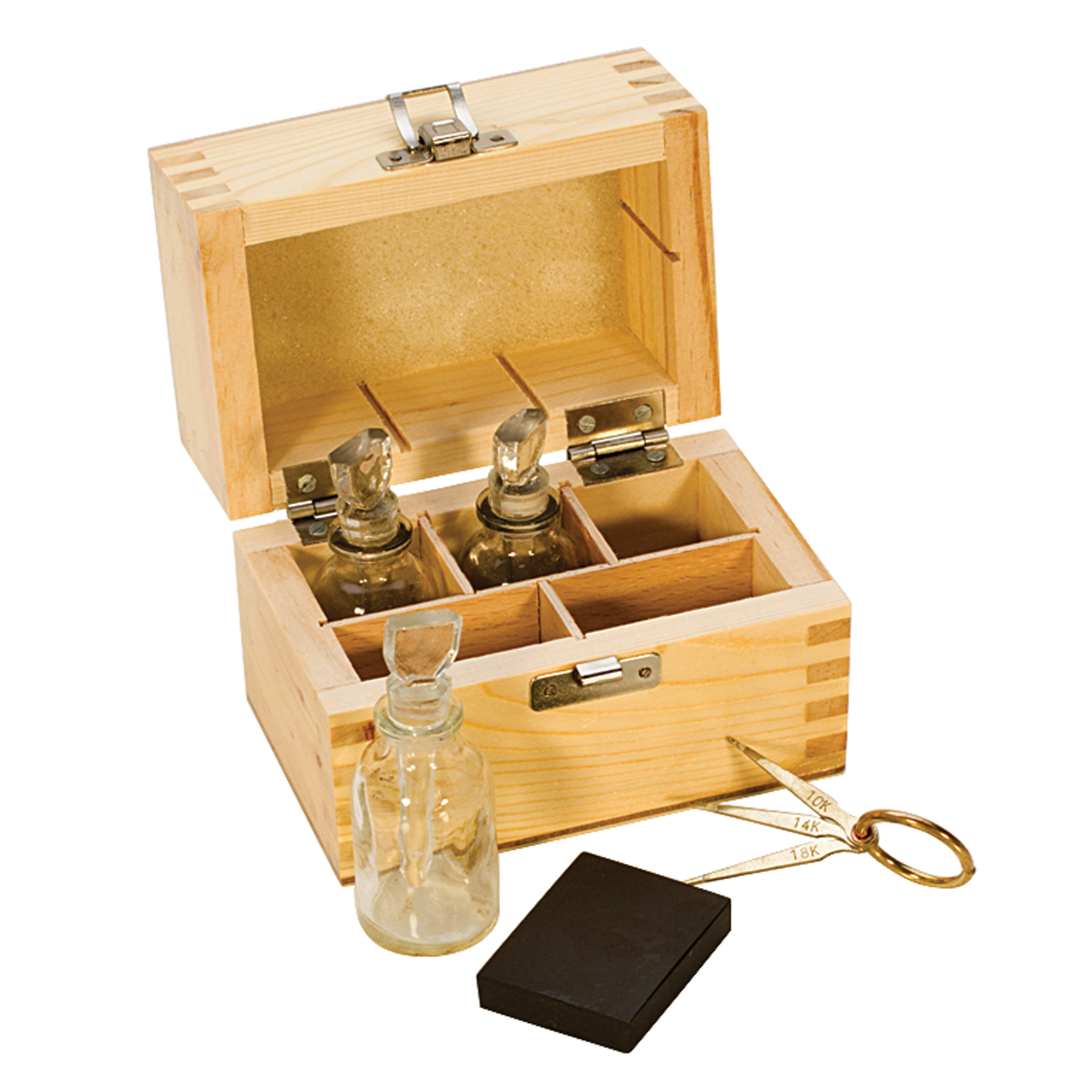 Gold Tester Kit : Gold test kit w glass bottles tes pmc supplies
